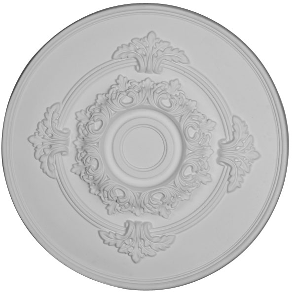 "17 1/2""OD x 1 1/2""P Traditional with Acanthus Leaves Ceiling Medallion"