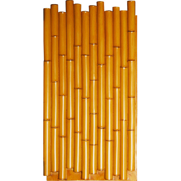 "24 1/2""W x 49 7/8""H x 1 3/8""D Bamboo Pole Endurathane Faux Siding Panel"