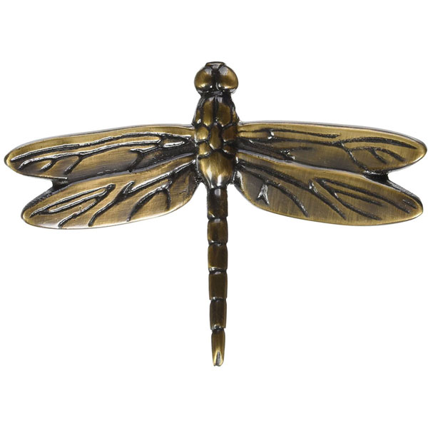 "5 3/4""W x 4 1/4""H Michael Healy Dragonfly Outdoor Art, Bronze"