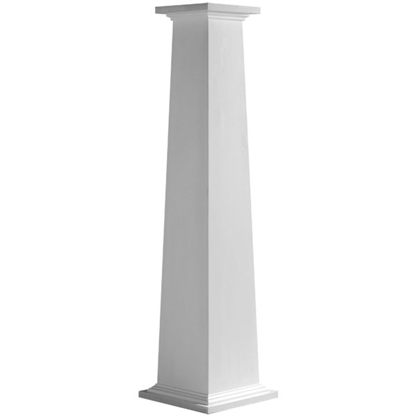 superb premade columns #7: Craftsman Classic Square Tapered Smooth Column w/ Standard Capital u0026 Base
