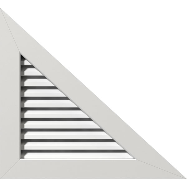 Right Triangle PVC Gable Vent - Right Side