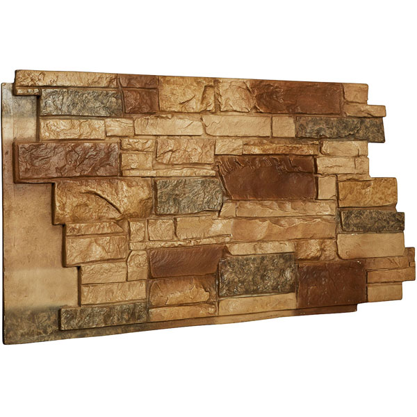 "49""W x 25""H x 1 1/4""D Stone Wall Endurathane Faux Siding Panel"
