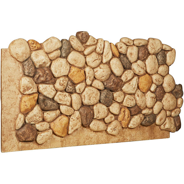 "47 1/2""W x 25 1/2""H x 1""D River Rock Endurathane Faux Siding Panel"
