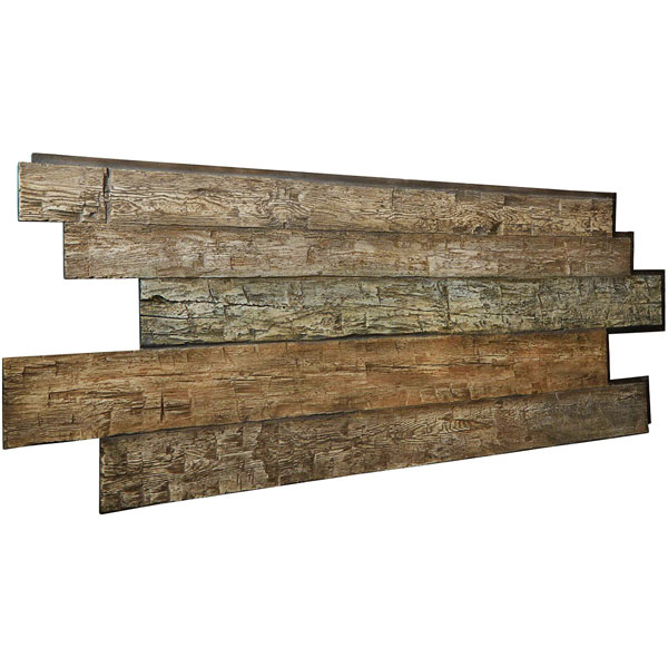 "98""W x 38""H x 1""D Hand Hewn Endurathane Faux Wood Siding Panel"