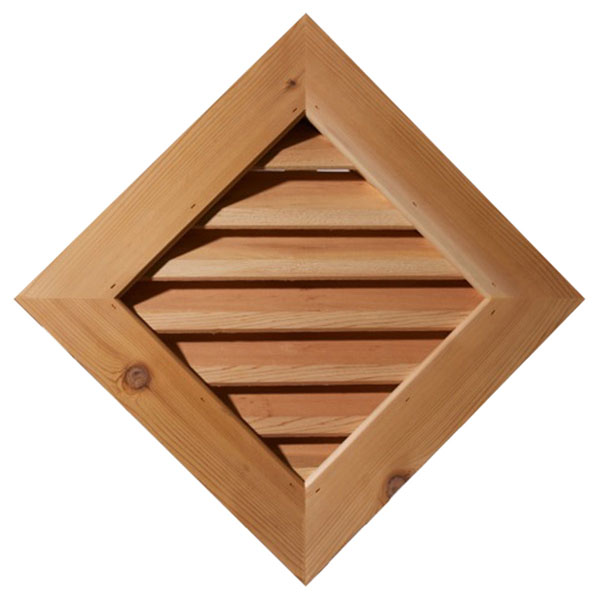 Diamond Wood Gable Vent