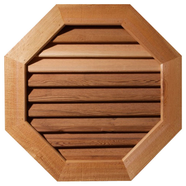 Octagonal Wood Gable Vent