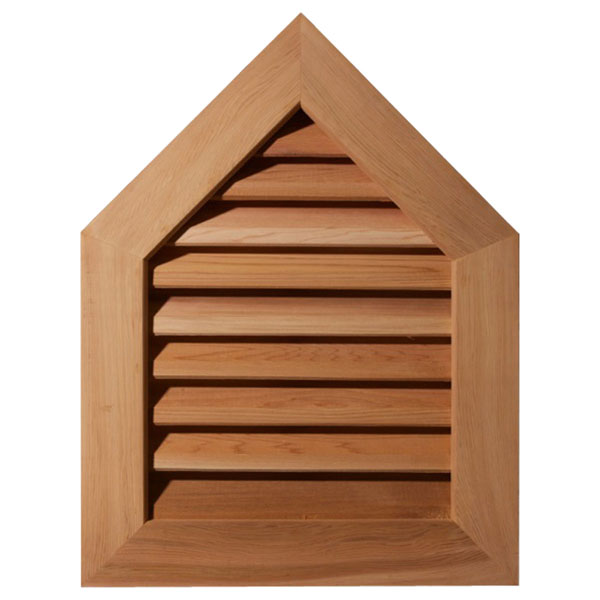 Peaked Top Wood Gable Vent