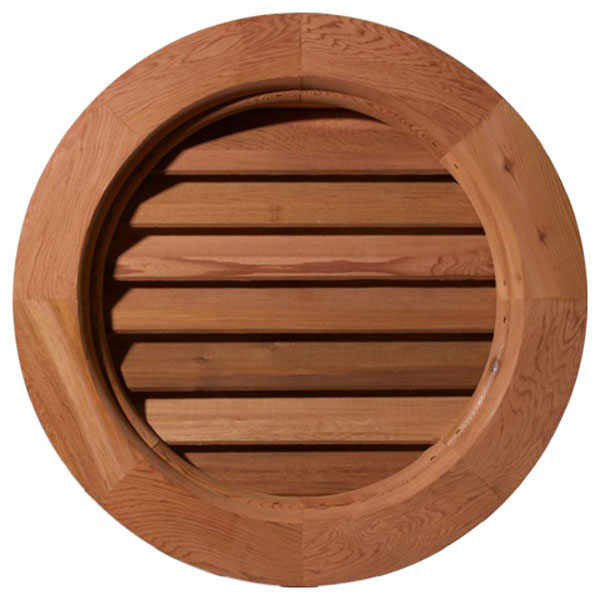 Round Wood Gable Vent
