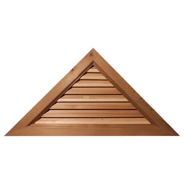 Triangle Wood Gable Vent