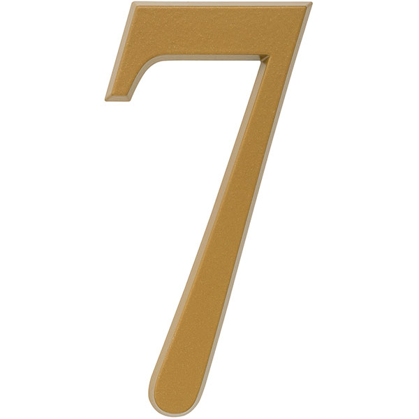 "1 3/4""L x 1/2""W x 4 3/4""H Number 7, Satin Brass"