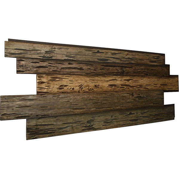 "98""W x 38""H x 1""D Pecky Cypress Endurathane Faux Wood Siding Panel"