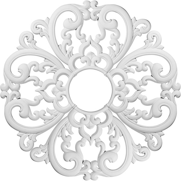 "24""OD x 5""ID x 1""P Odessa Ceiling Medallion (Comes in 4 separate pieces)"