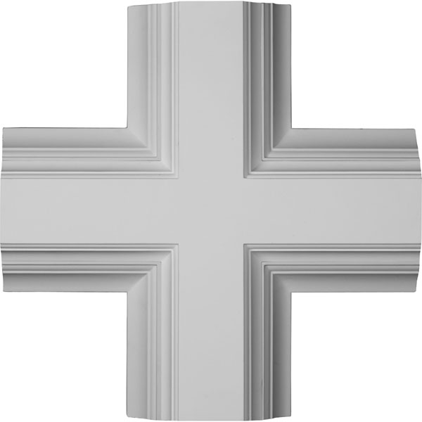 "20""W x 4""P x 20""L Inner Cross Intersection for 8"" Deluxe Coffered Ceiling System (Kit)"