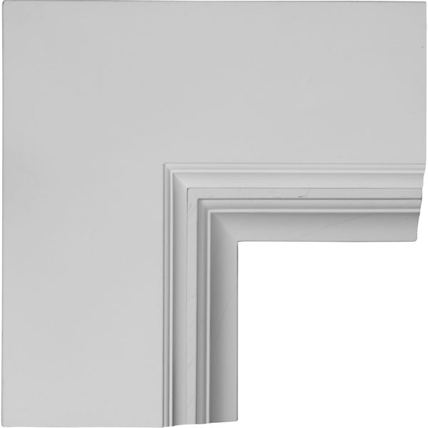 "14""W x 4""P x 14""L Perimeter Inside Corner for 8"" Deluxe Coffered Ceiling System (Kit)"