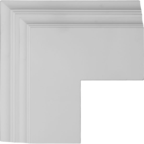 "14""W x 4""P x 14""L Perimeter Outside Corner for 8"" Deluxe Coffered Ceiling System (Kit)"