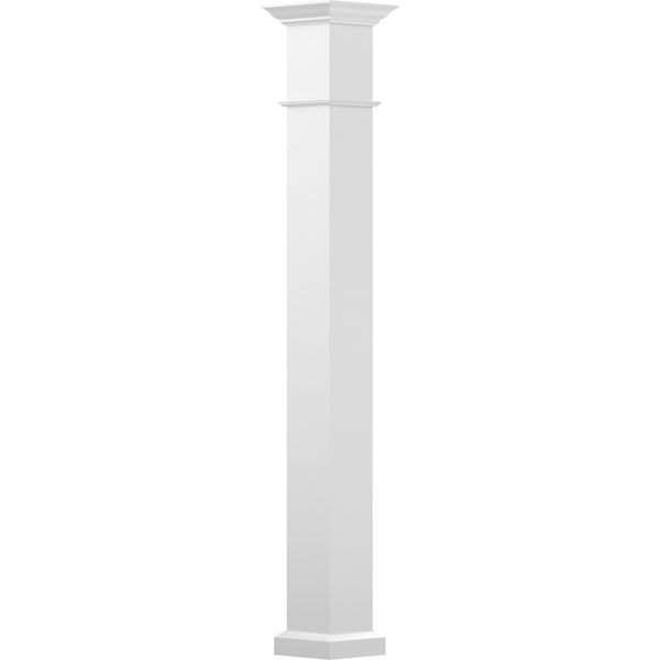 Endura-Aluminum Square Wellington Column w/ Capital & Base