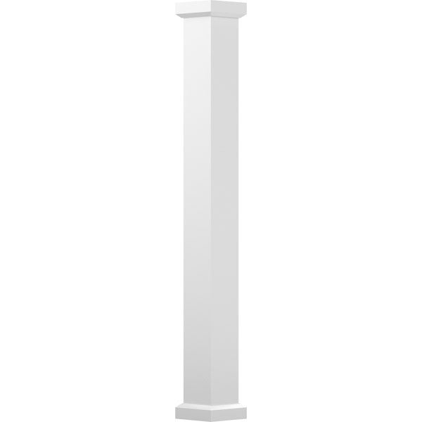 Endura-Aluminum Square Empire Column w/ Capital & Base