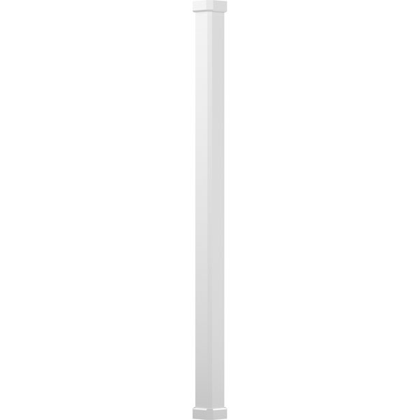 Endura-Aluminum Square Craftsman Column w/ Capital & Base