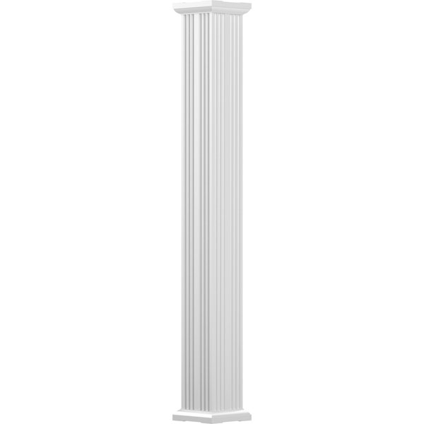 Endura-Aluminum Square Non-Tapered Fluted Column w/ Capital & Base