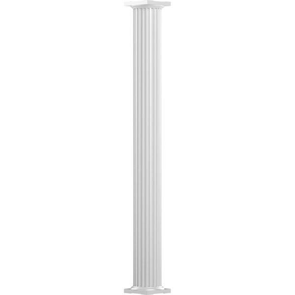 Endura-Aluminum Round Non-Tapered Fluted Column w/ Capital & Base