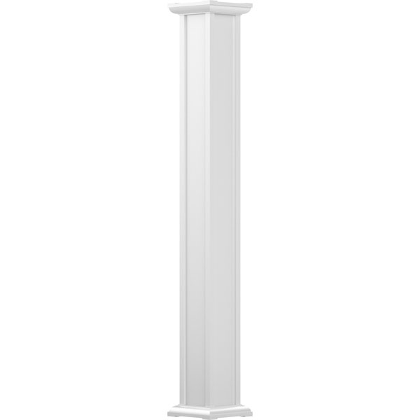 Endura-Aluminum Square Acadian Column w/ Capital & Base