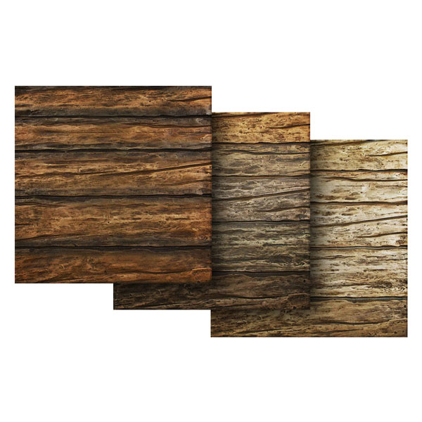 "6""W x 6""H River Wood Endurathane Faux Wood Siding Panel Sample"