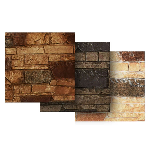 "6""W x 6""H Stone Wall Endurathane Faux Siding Panel Sample"