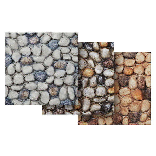 "6""W x 6""H River Rock Endurathane Faux Siding Panel Sample"