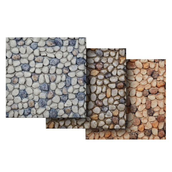 "6""W x 6""H Pebble Rock Endurathane Faux Siding Panel Sample"