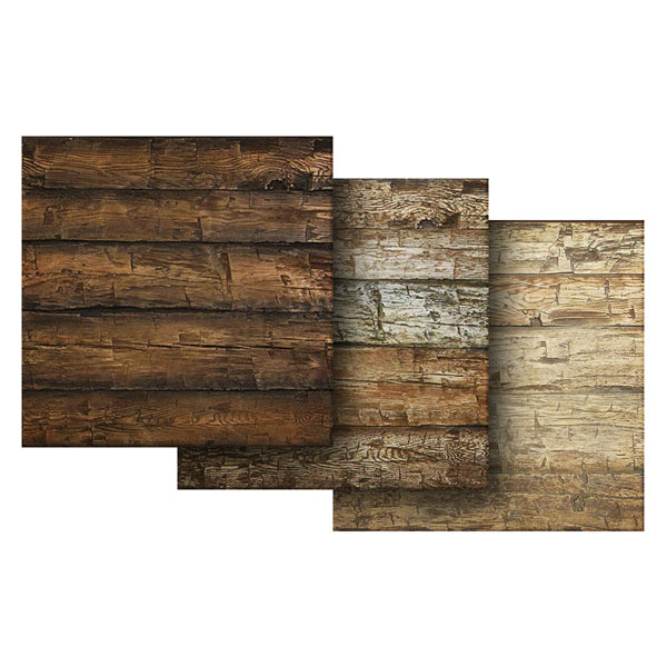 "6""W x 6""H Hand Hewn Endurathane Faux Wood Siding Panel Sample"