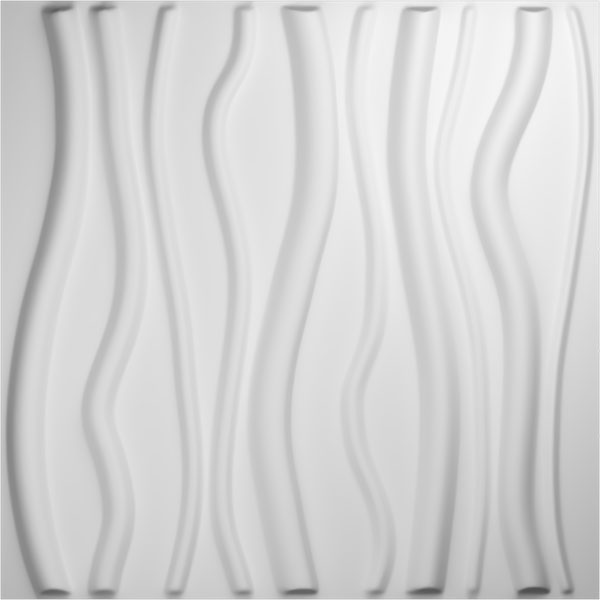 "19 5/8""W x 19 5/8""H Jackson EnduraWall Decorative 3D Wall Panel, White"