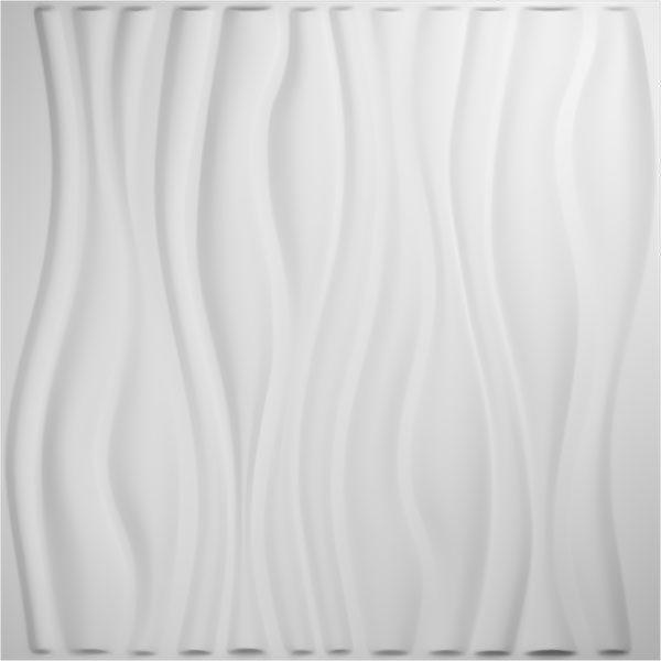 "19 5/8""W x 19 5/8""H Leandros EnduraWall Decorative 3D Wall Panel, White"