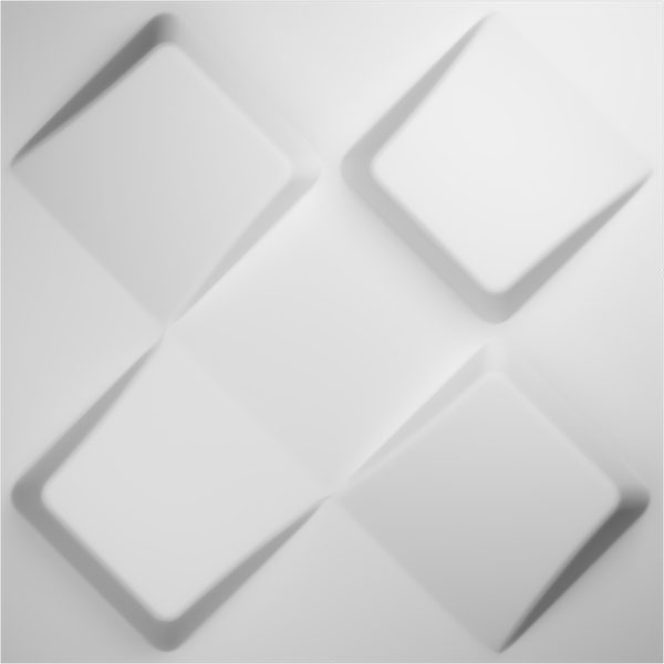 "19 5/8""W x 19 5/8""H Bradley EnduraWall Decorative 3D Wall Panel, White"
