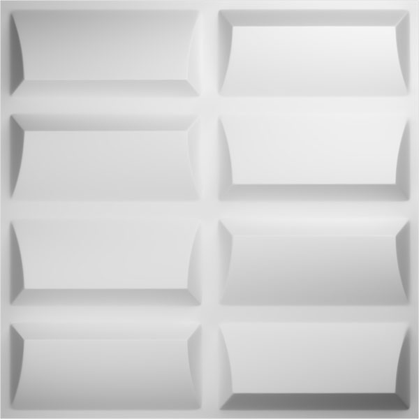 "19 5/8""W x 19 5/8""H Robin EnduraWall Decorative 3D Wall Panel, White"