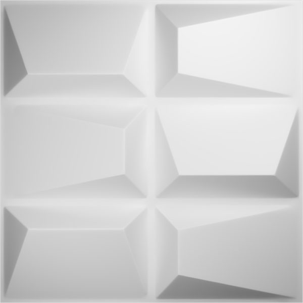 "19 5/8""W x 19 5/8""H Stratford EnduraWall Decorative 3D Wall Panel, White"