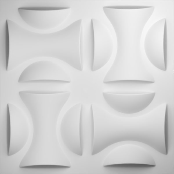 "19 5/8""W x 19 5/8""H York EnduraWall Decorative 3D Wall Panel, White"