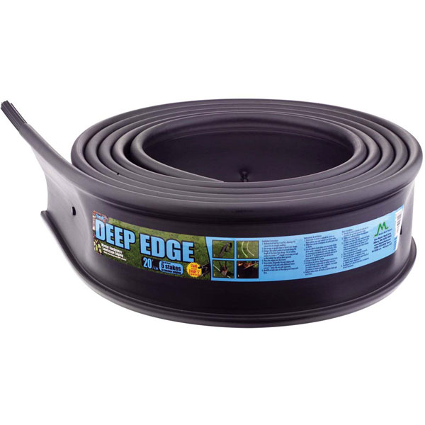 "6""H x 20'L Master Gardener Deep Edge Landscape Edging (Includes a coupler & 5 stakes)"