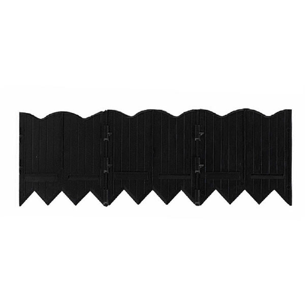 "6""H x 20'L Border Master Poundable Edging, Black (Includes 3 Connectors)"