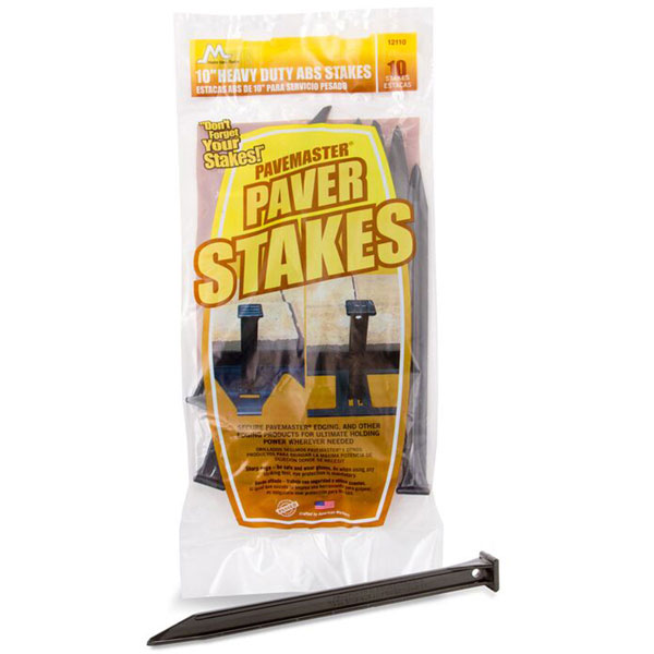 "10"" ABS Paver Stakes (10/Pack)"