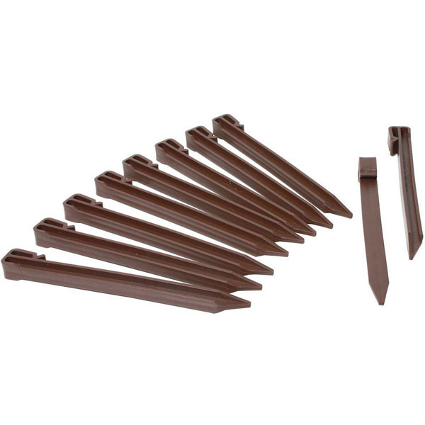 "10"" Terrace Board Landscape Edging Stake Kit (20/Pack)"