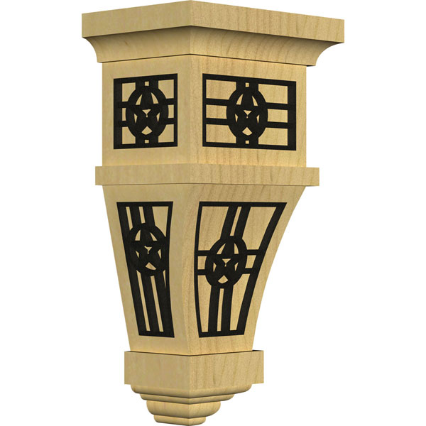 Alpine Wood Corbel w/ Inlay