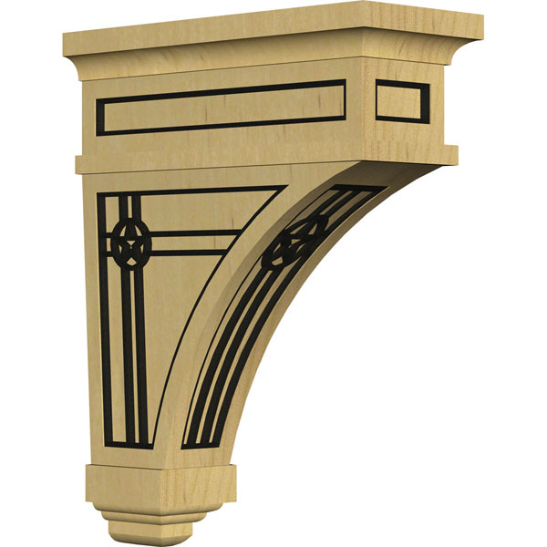 Arlington Wood Corbel w/ Inlay