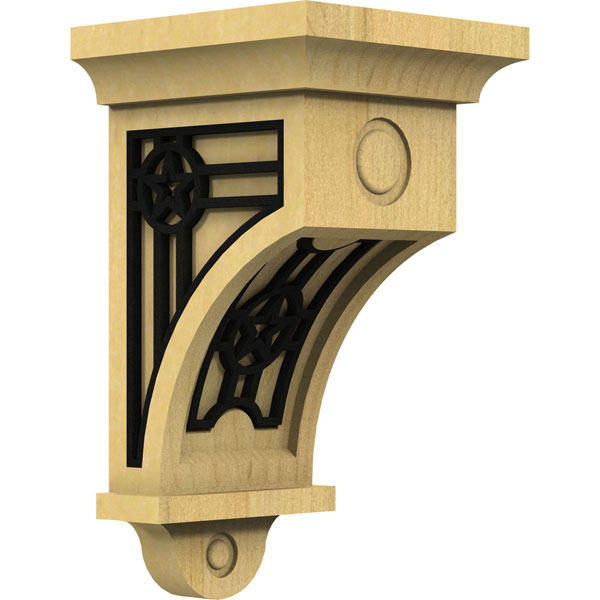 Arts and Crafts 01 w/ Inlay Wood Corbel