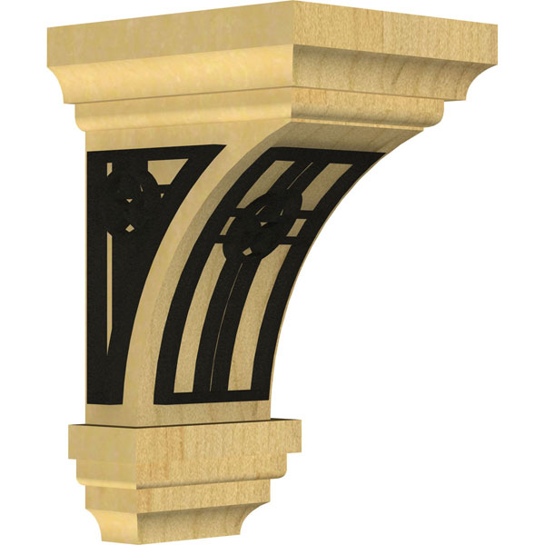 Jefferson Wood Corbel w/ Inlay