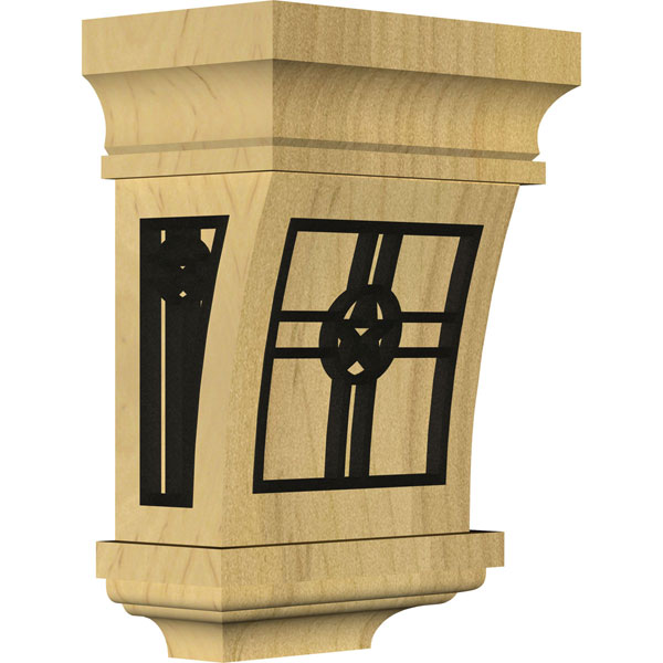 Santa Fe Wood Corbel w/ Inlay