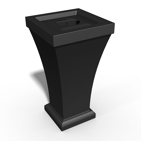 "22""W x 22""D x 40""H Bordeaux Tall Waste Bin"