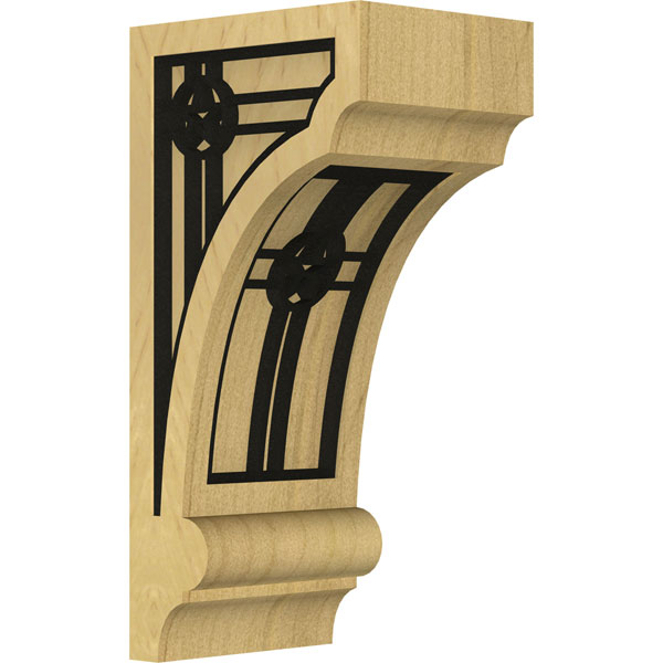 Diane Recessed Wood Corbel w/ Inlay