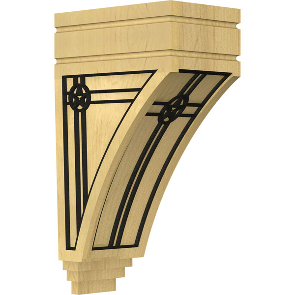 San Juan Wood Corbel w/ Inlay