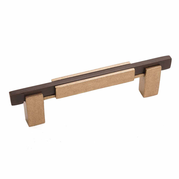 Edge Two-Tone Style, Bronze Contemporary Square Base Handle