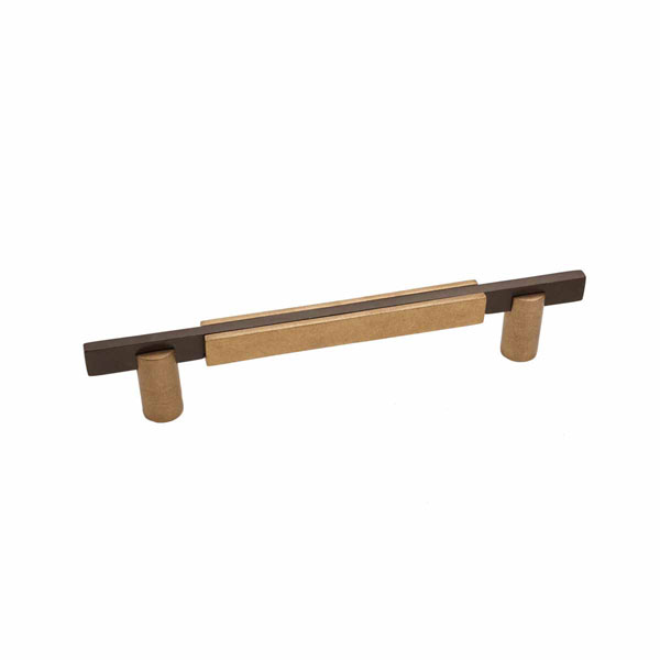 Edge Two-Tone Style, Bronze Contemporary Round Base Handle